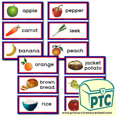 Healthy Food Themed Flashcards