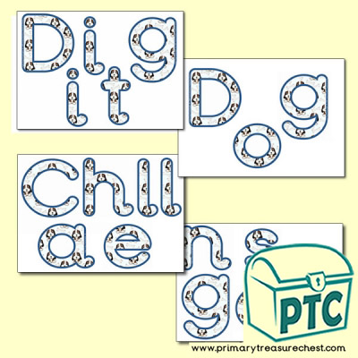 'Digit Dog Challenges' Display Letters