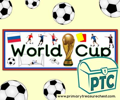 Football World Cup 2018 Display Heading/ Classroom Banner