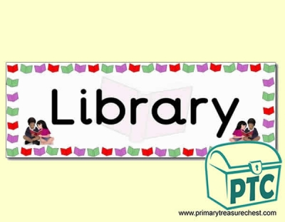 'Library' Display Heading/ Classroom Banner