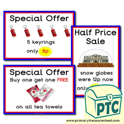 London Gift Shop Special Offers (1 to 20p)