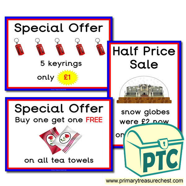 London Gift Shop Special Offers (21p to £99)