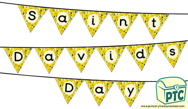 St. David's Day Flag Bunting