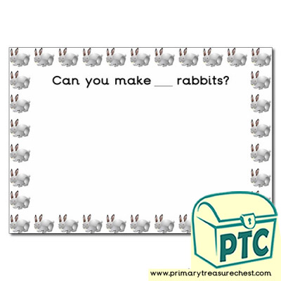 Rabbit Number Playdough Mat