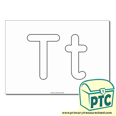 Letter t Themed Pre Writing and Letter Formation Activities