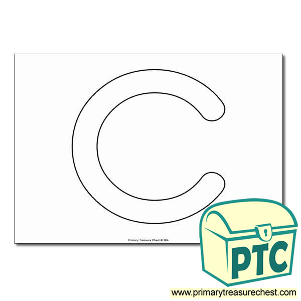 Uppercase Letter 'C' Bubble  A4 Poster - No Images.