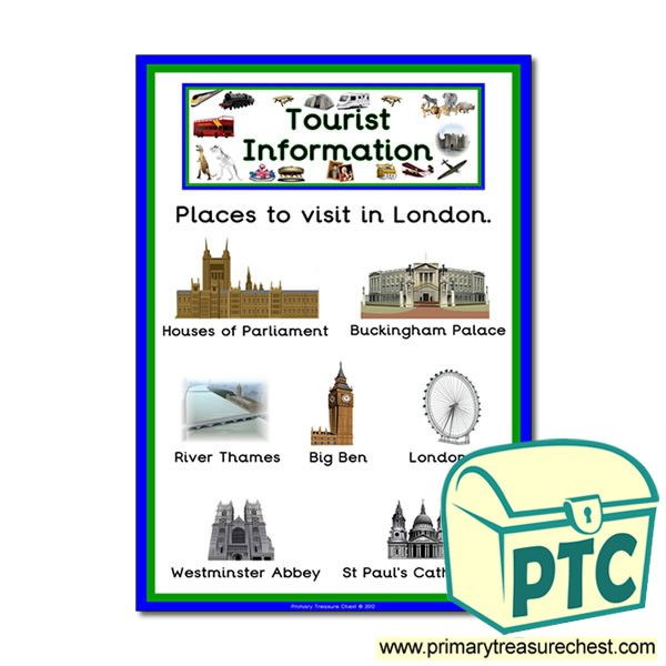 London Tourist Information Themed Poster