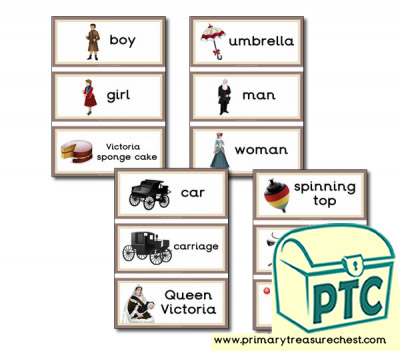Victorian Themed Flashcards