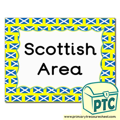 Scottish area Classroom sign
