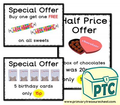 Role Play Newsagents Special Offers (1-20p)