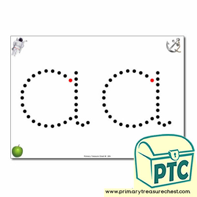 'a' Lowercase Letter Formation Activity - Join the Dots