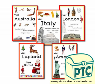 Role Play Travel Agents Holiday Signs