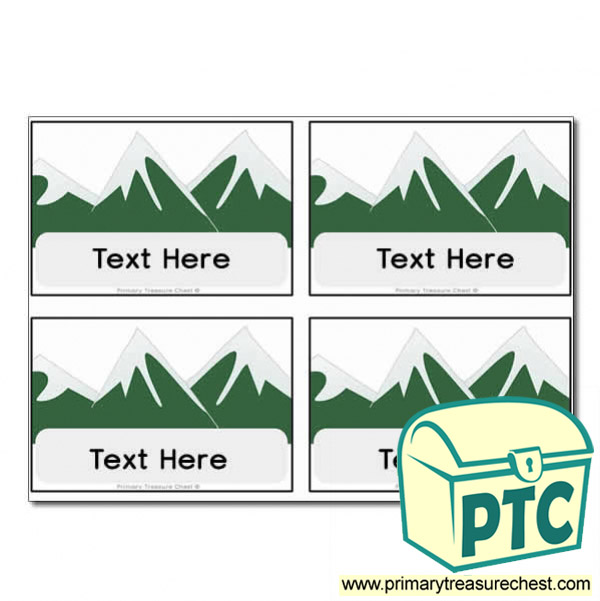 Mountain Themed Registration Name Cards
