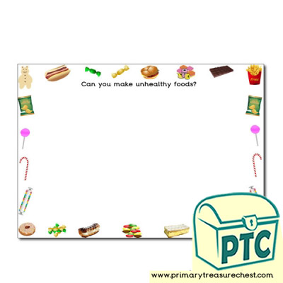 Unhealthy Food Themed Playdough Mat