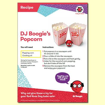 DJ Boogie's Popcorn Recipe For Red Nose Day