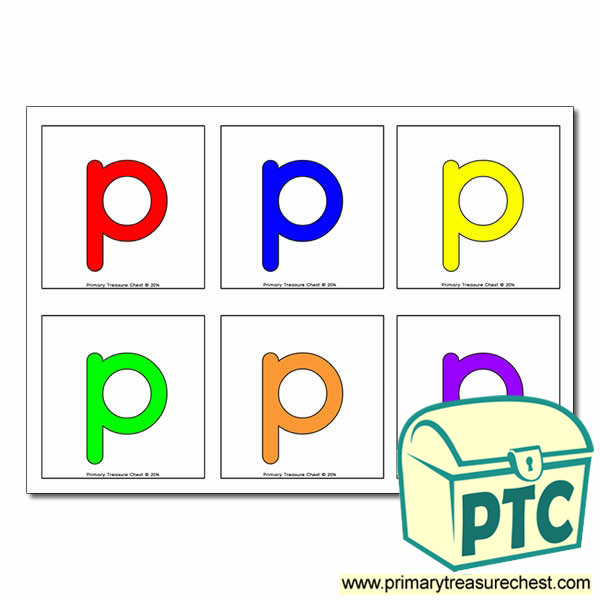 Letter 'p' Hunt / Matching Cards