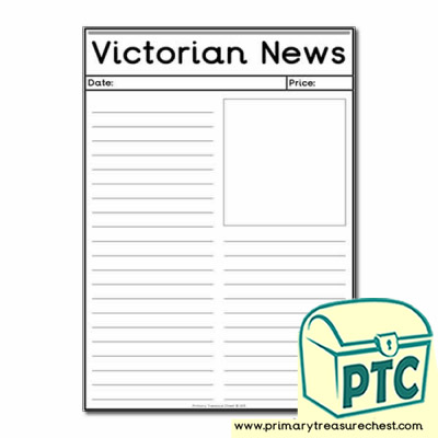 'The Victorians' Themed Newspaper Worksheets