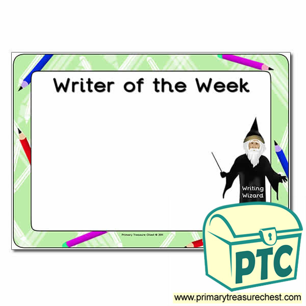 Writer of the Week Poster