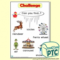 Christmas / Winter Themed 'Can you find …?' Words & Pictures Challenge