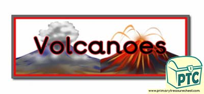Volcano' Display Heading / Classroom Banner