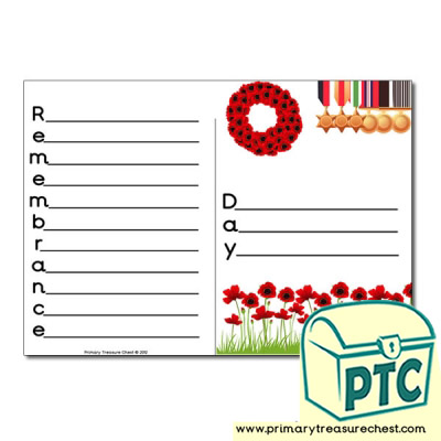 Remembrance Day Themed Acrostic Poem
