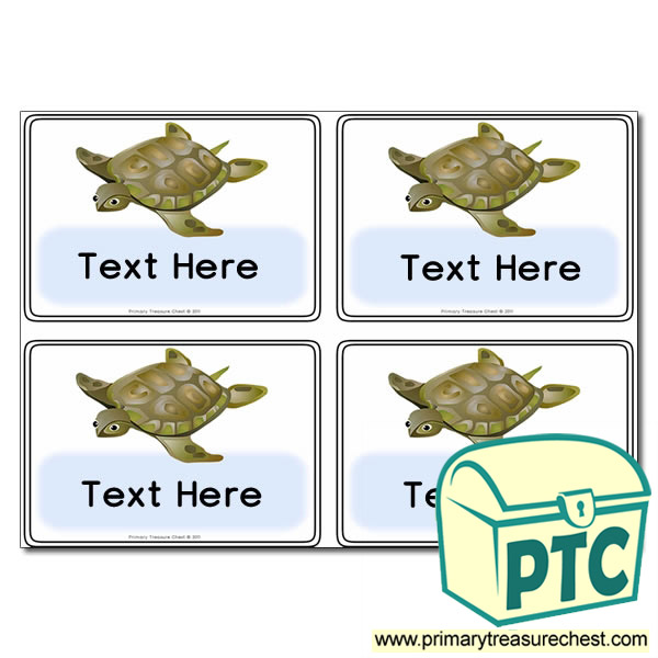 Turtle Themed Registration Name Cards
