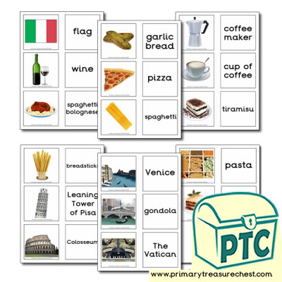 Italy Themed Matching Cards
