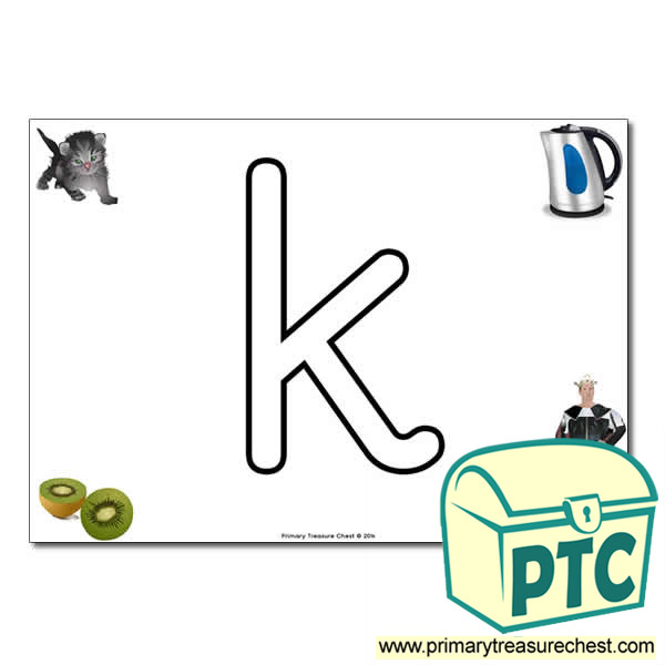 'k' Lowercase Bubble Letter A4 Poster containing high quality and realistic images