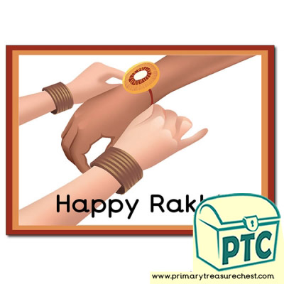 'Happy Rakhi' Poster