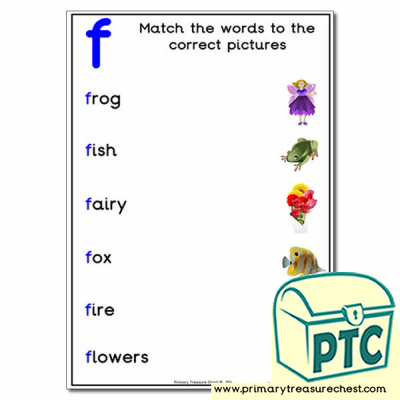 Match the 'f' Themed Words to the Pictures