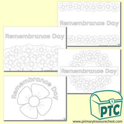 'Remembrance Day' Colouring Sheets