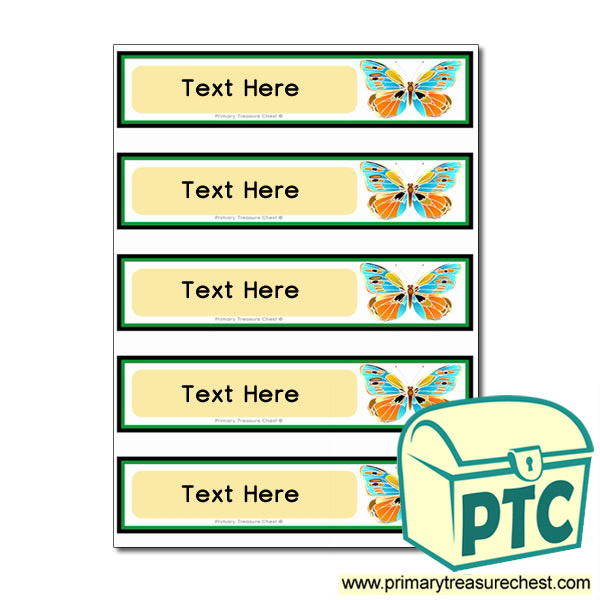 Butterfly Pupil Drawer Labels (Small)