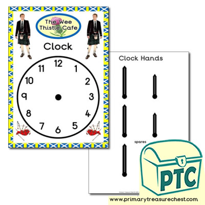 Scottish Cafe Role Play Clock