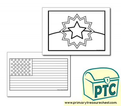 Juneteenth Flag Coloring sheet