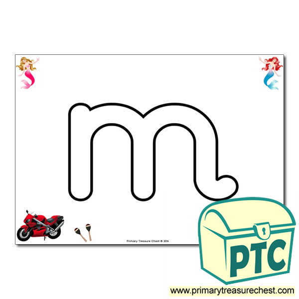 'm' Lowercase Bubble Letter A4 Poster containing high quality and realistic images