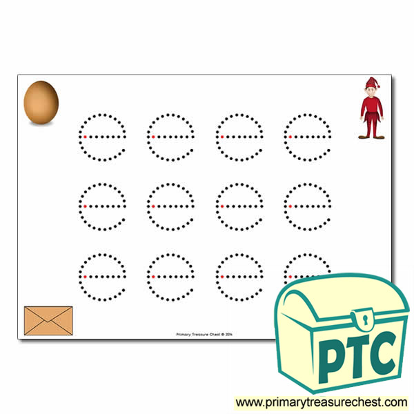 'e' Lowercase Letter Formation Activity - Join the Dots