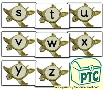 Turtle Themed Phonic Sound Cards (s-z)