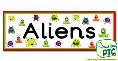 Alien- Display Heading/ Classroom Banner