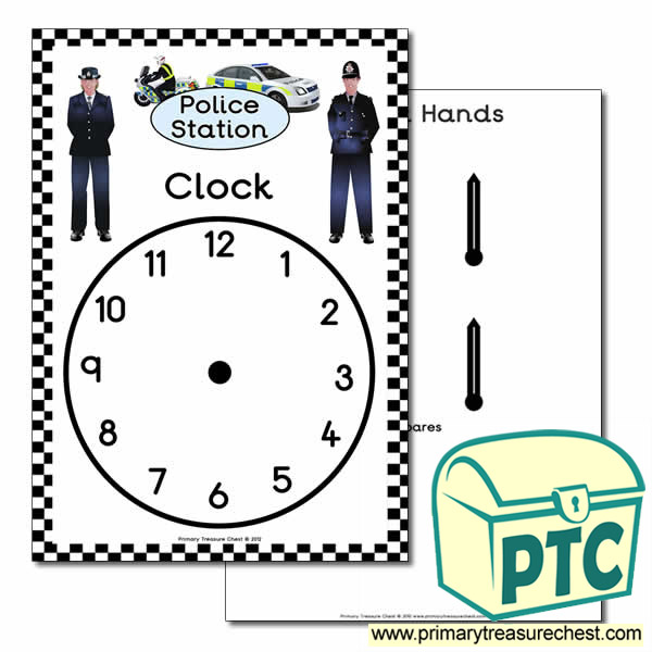 Police Station Role Play Clock