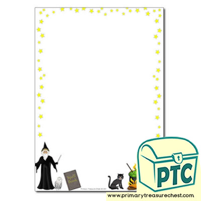 Magic Spells Page Border /Writing Frame (no lines)