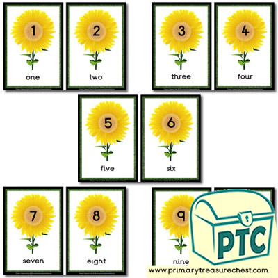 Sunflower Number Line 1 to 10