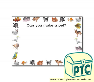 Playdough Mat - 'Can You Make a Pet?'