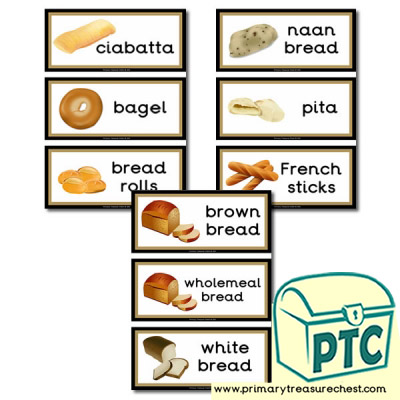 Bread Themed Flashcards