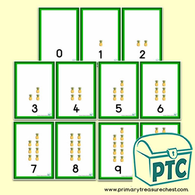 Pineapple 0 to 10 Number Shapes Number Line