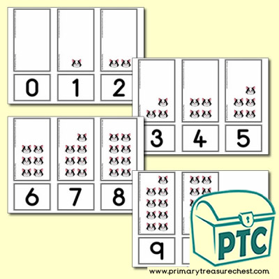Calculating Cat Number Shapes Matching Cards 0 to 10