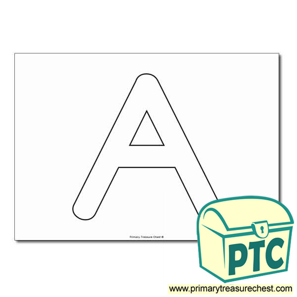 Uppercase Letter 'A' Bubble  A4 Poster - No Images.