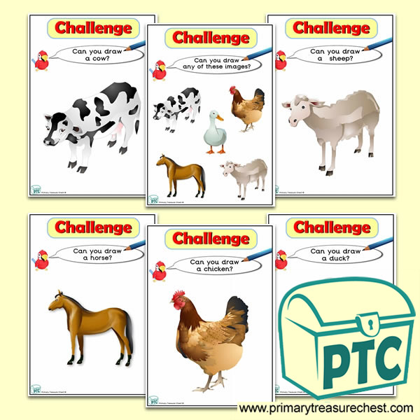 Farm Animal Themed ICT Challenge Cards