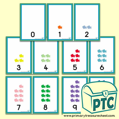 Coloured Fish Number Shapes 0 to 10