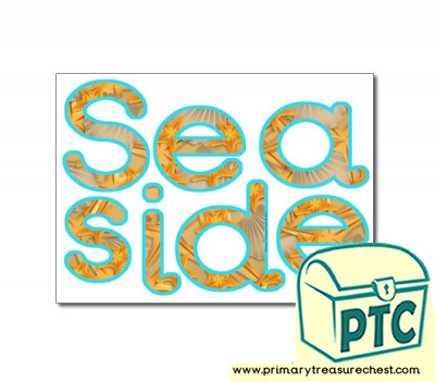Seaside Themed Display Letters