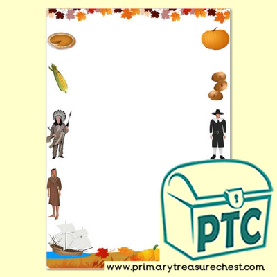 Thanksgiving Page Border/Writing Frame (no lines)